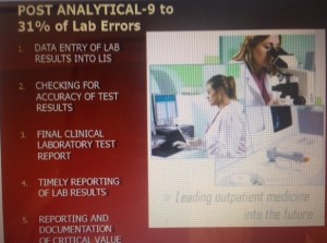 Exposure of Post Analytic Lab Testing